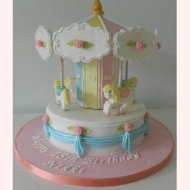 """Торт на 1 год """"Каруселька"""""""