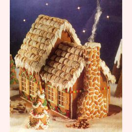 """Торт на Новый год """"Вафельный домик"""""""