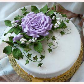 "Торт ""Роза Фиолетовая"""