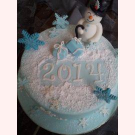 "Торт на Новый год ""Снеговик 2018"""