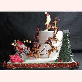 """Торт на Новый год """"Месяц в Новый Год"""""""