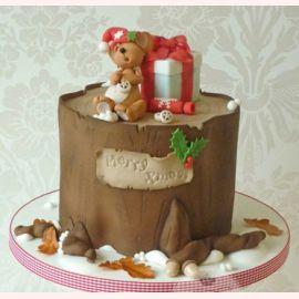 """Торт на Новый год """"Новогодний мышенок"""""""