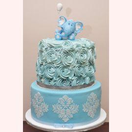 """Торт на 1 год """"Милый слоник"""""""