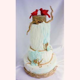 """Торт на Новый год """"Зимняя страна чудес"""""""