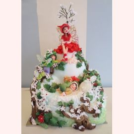 """Торт на Новый год """"Зимняя фея"""""""