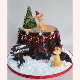 """Торт на Новый год """"Мышкин Новый год"""""""