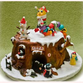 """Торт на Новый год """"В ожидании Нового года"""""""