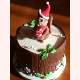 """Новогодний торт """"Новогодняя белочка"""""""