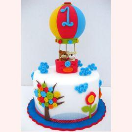 "Торт на 1 год ""Путешествие мишек"""
