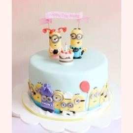 """Торт на 1 год """"Один годик. Миньоны"""""""
