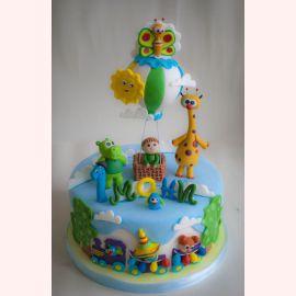 """Торт на 1 год """"Малышу годик"""""""
