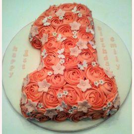 """Торт на 1 год """"Единичка в розах"""""""