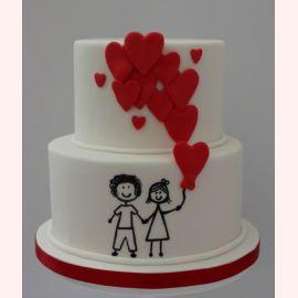 """Торт для влюбленных """"Ты+Я=Любовь"""""""