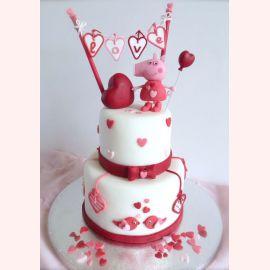 """Торт для влюбленных """"Любовь от Пеппи"""""""