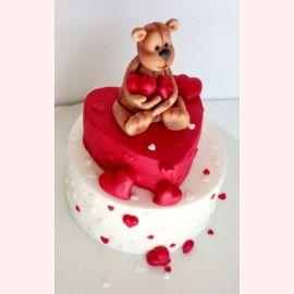 """Торт для влюбленных """"Любовь от мишки"""""""