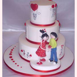 """Торт для влюбленных """"История любви"""""""