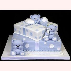 """Торт на 1 годик """"Нежные мишки"""""""