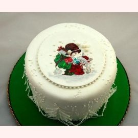 """Торт на Новый год """"Зимняя сказка"""""""