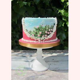 "Торт ""Розовые розочки в саду"""