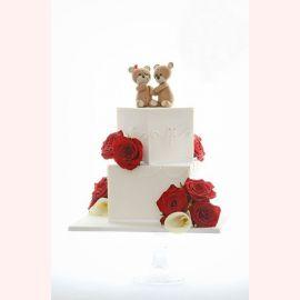 """Торт для влюбленных """"Мишки и их чувства"""""""