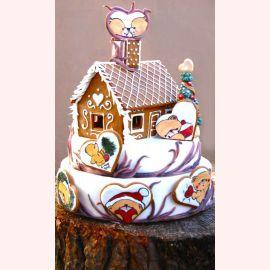 """Торт на Новый Год """"Мишки в Новый год"""""""