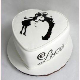 """Торт для влюбленных """"Встреча двух сердец"""""""
