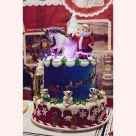 """Торт на Новый год """"Дед мороз и елочка"""""""