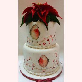 """Новогодний торт """"Снегири. Зимние птицы"""""""