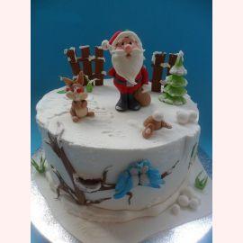 "Торт на Новый Год ""Добрый Дедушка Мороз"""