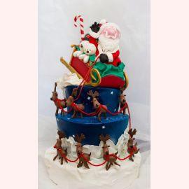 """Торт на Новый Год """"Дед Мороз к нам мчится!"""""""