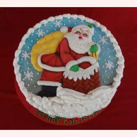 """Торт на Новый Год """"Дед Мороз-красный нос!"""""""