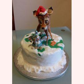 """Торт на Новый Год """"Bambi"""""""