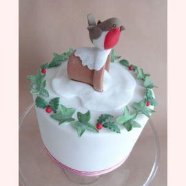 "Новогодний торт ""Снегирёк"""