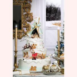 """Торт на Новый год """"Поход Деда Мороза"""""""