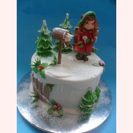 """Торт на Новый год """"Новогодний почтовый ящик"""""""