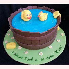 """Торт на 1 годик """"Купание утят"""""""