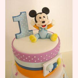 "Торт на 1 годик ""Маленький Микки"""