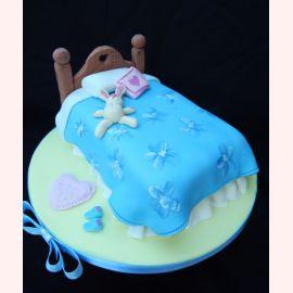 """Торт для влюбленных """"Кролик на кроватке"""""""