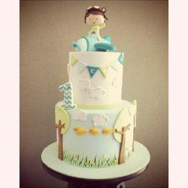 """Торт на 1 годик """"Будущий летчик"""""""
