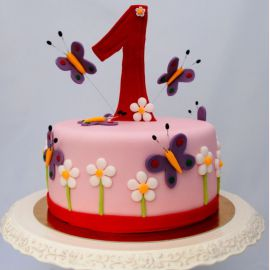 """Торт на 1 годик """"Большая единичка"""""""