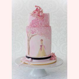 """Торт """"Розовый сад сакуры"""""""