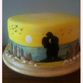 """Торт для влюбленных """"Мне с тобой тепло..."""""""