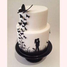 """Торт для влюбленных """"Порхание бабочек"""""""