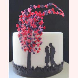 """Торт для влюбленных """"Дерево с сердечками"""""""