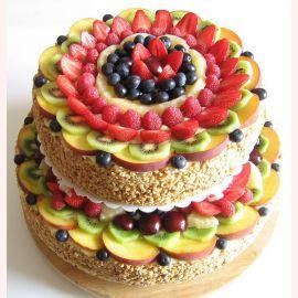 """Торт """"Фруктовая свежесть"""""""
