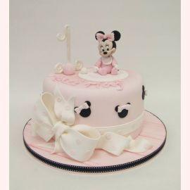 """Торт на 1 год """"Минни в ползунках"""""""
