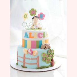 """Торт на 1 год """"Alicia one"""""""