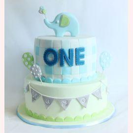 """Торт на 1 годик """"Elephant"""""""