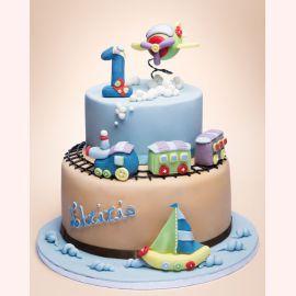 """Торт на 1 год """"Будущий моряк"""""""