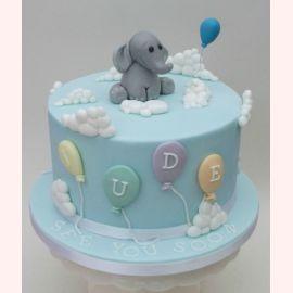 """Торт на 1 год """"Слоник на облачках"""""""